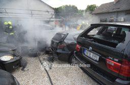Autók égtek Budapesten a Szállás utcában Kőbányán